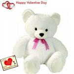 """Lovable Teddy - Teddy 18"""" + Valentine Greeting Card"""
