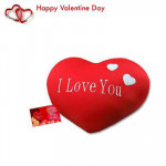 """Red Heart Pillow - Heart Pillow 8"""" + Valentine Greeting Card"""