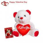 """Cute Teddy - Teddy with Heart 8"""" + Valentine Greeting Card"""
