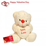 "Love For You - Teddy with Love 10"" + Valentine Greeting Card"