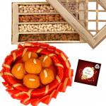 Laddu n Nuts - Kanpuri Laddu 250 gms, Assorted Dryfruits 400 gms & Card