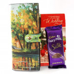 Silky Combo - Designer Clutches, Dairy Milk Silk and Card