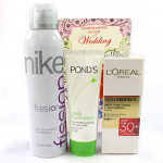 Cute Sis - Rasasi Deo for Women, Loreal Paris 30+ Skin Perfect Cream, Ponds Daily Face Wash and Card