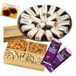 Combo for You - Kaju Anjir Rolls,  Assorted Dryfruits, 2 Dairy Milk