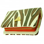 White & Brown Clutch (8 inch by 4 inch)