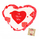 """White & Red I Love You Heart - 8"""" X 12"""" Inches (Approx )"""