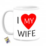 I Love My Wife Personalized Mug & Card